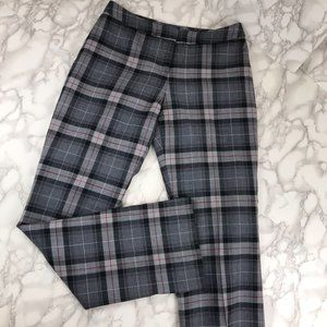 Pendleton Petite Gray Red Plaid Pants Size 4